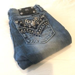 Miss Me Signature Skinny Blue Light Wash Jeans